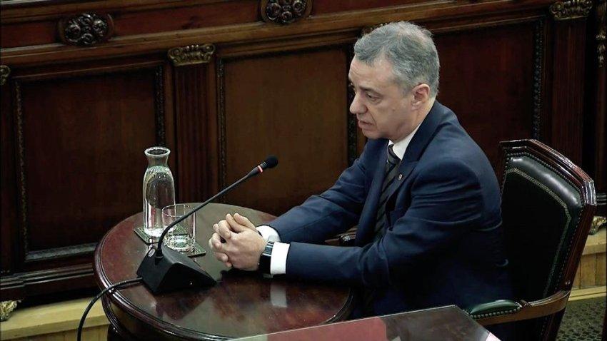 Iñigo Urkullu, president of the Basque Autonomous Community, gives evidence