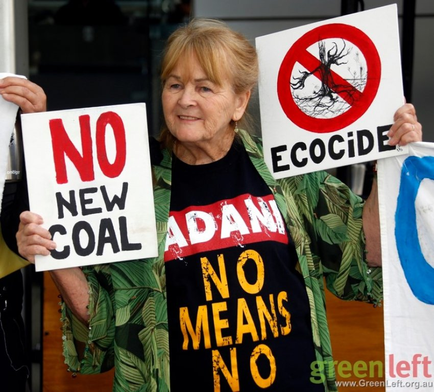 A Stop Adani protest in Brisbane on October 23.
