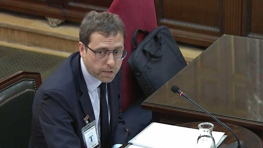 Alberto Royo, former director-general of the Catalan public diplomacy council Diplocat, gives evidence