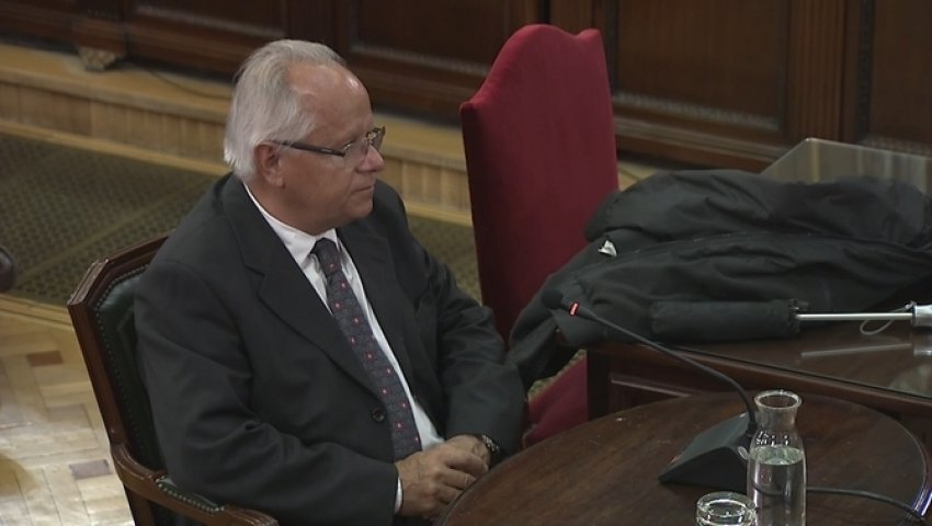 Antón Raventós, former chairman of Unipost, giving evidence