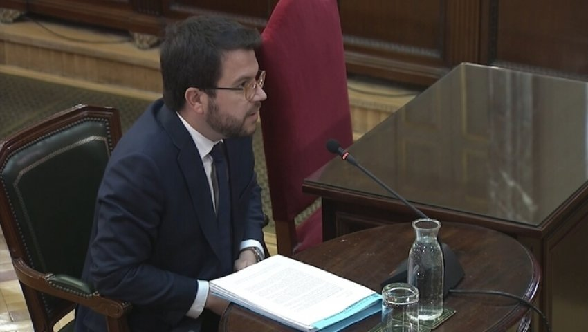 Catalan Vice-President Pere Aragonès was granted the right not to testify because he is still facing possible charges in the Higher Court of Justice of Catalonia