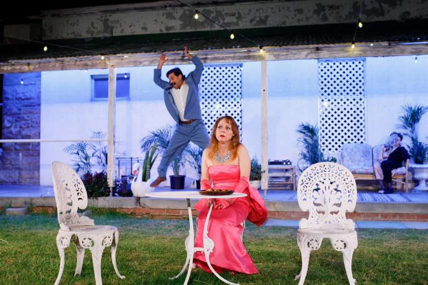 Ben Mortley burns down the house with Hayley McElhinney in The Cherry Orchard. Photo Daniel J Grant