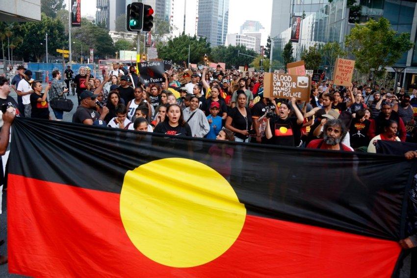 Justice for Kumanjayi Walker protest in Brisbane on November 13.