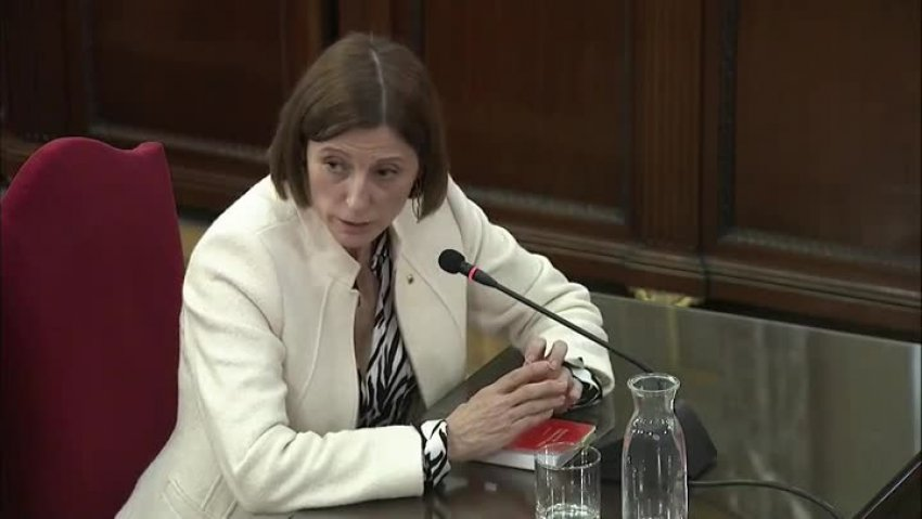 Carme Forcadell, former speaker of the Catalan parliament, giving evidence