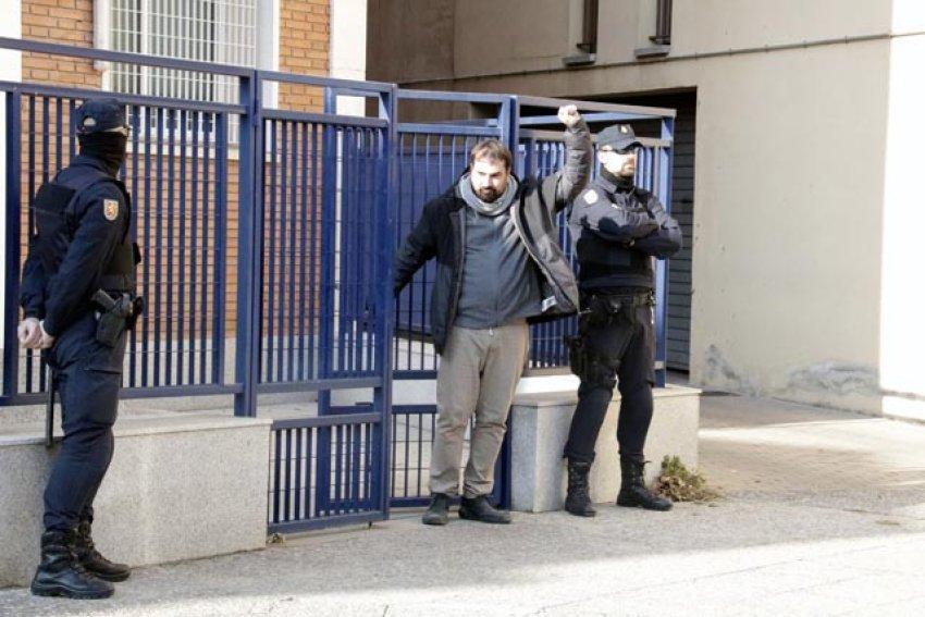 Celrà mayor Dani Cornellà leaves Girona police headquarters on January 16