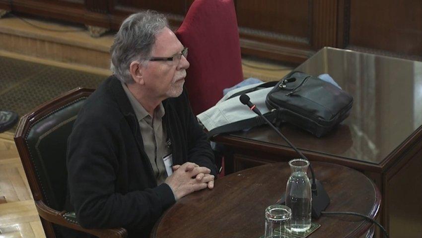 ANC and Òmnium Cultural member Josep Maria Cerveró giving evidence