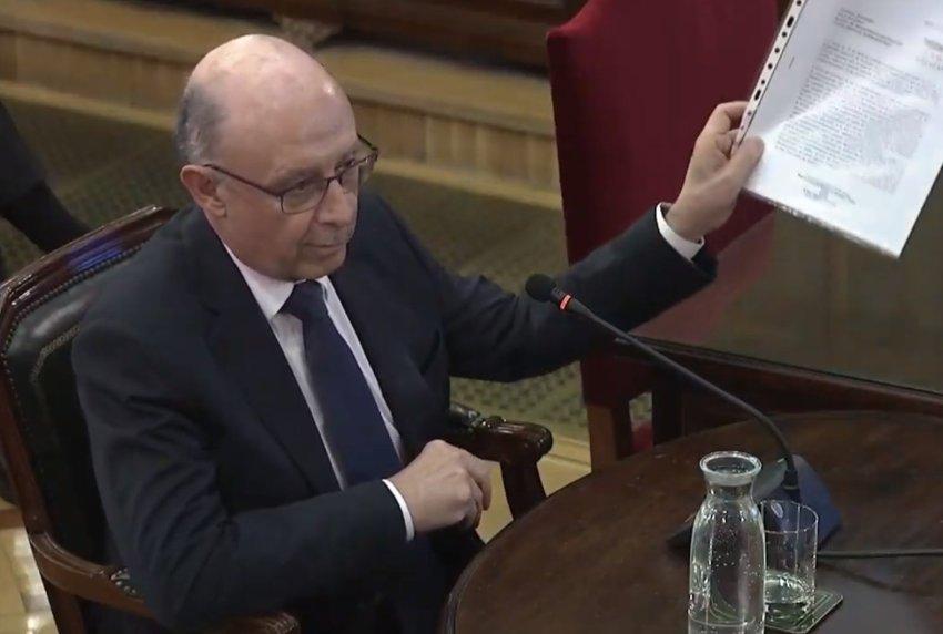 Former Spanish finance minister Cristóbal Montoro, testifies