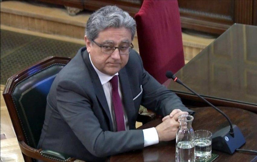 Enric Millo, former Spanish government representative in Catalonia, giving evidence
