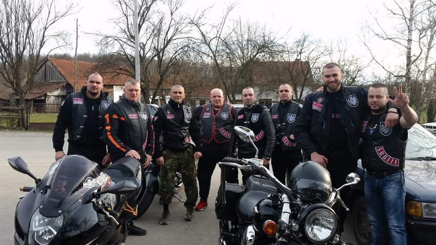 Members of MC Srbi, bikers club of Serbian far-rightists, which operates in the Serb Republic in Bosnia and in Serbia (Photo: Facebook)