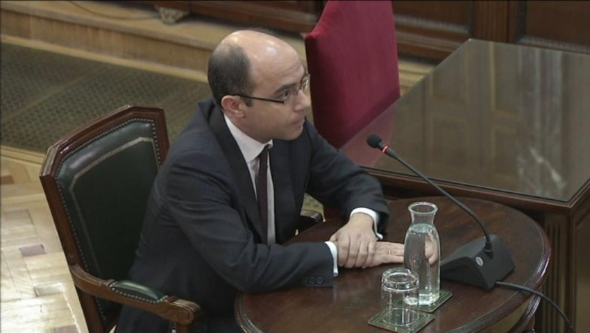 Felipe Martínez, Undersecretary of the Spanish Ministry of Finance, giving evidence