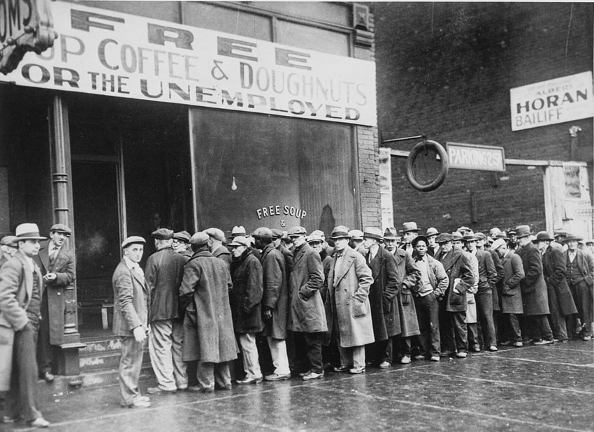 US food queue, 1930 (Credit: Getty Images)