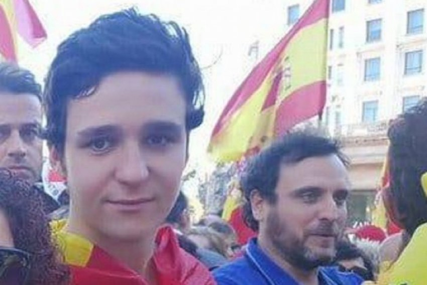 Froilan, King Philips' nephew and fourth in line to the throne, at the February 9 rally for Spanish unity called by the PP, Citizens and Vox