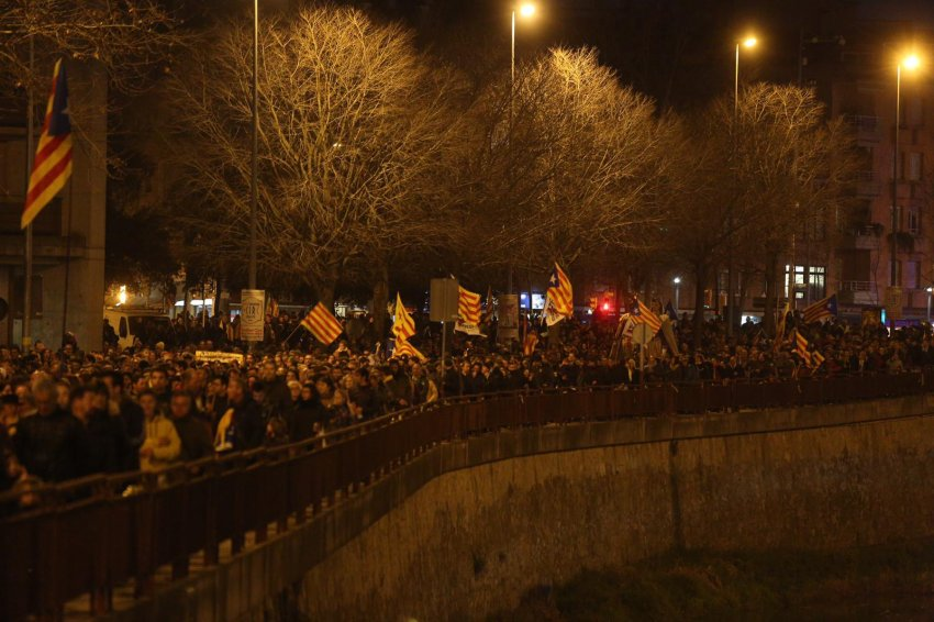 December 21, Girona: 70,000 marched in a city of 100,000, repeating the size of the October 3, 2017 demonstration against the police violence of October 1