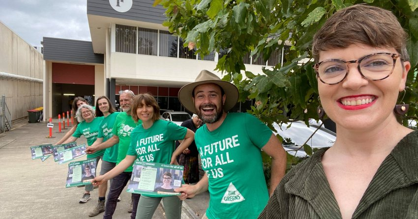 Greens campaigners in South Brisbane