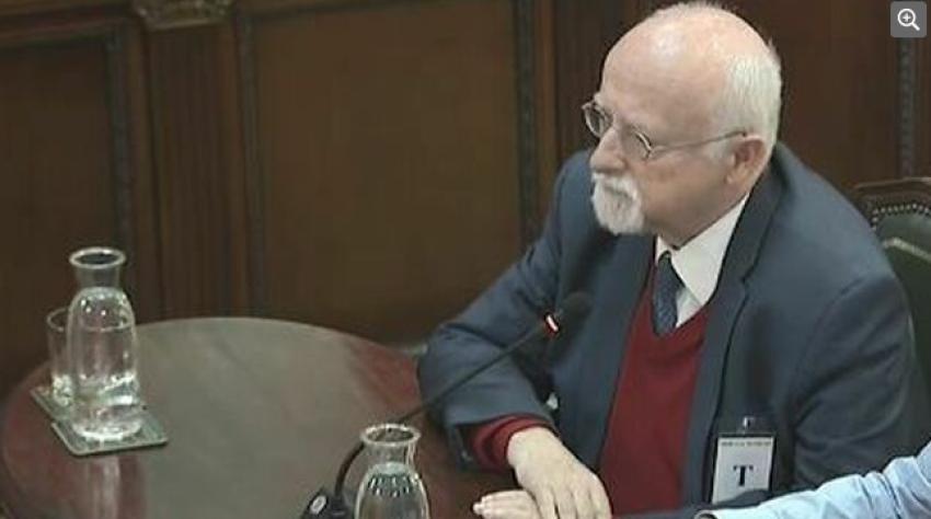 Bernhard von Grünberg, former MP for the German Social Democratic Party, giving evidence