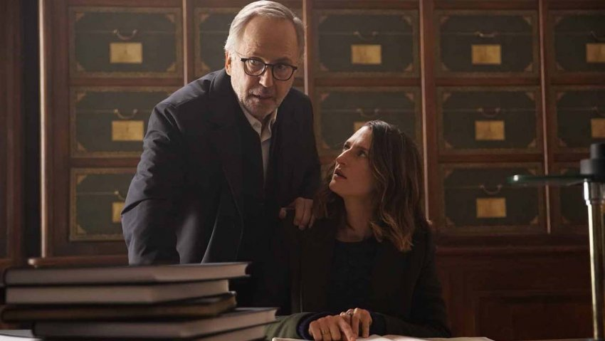Fabrice Luchini and Camille Cottin in The Mystery of Henri Pick