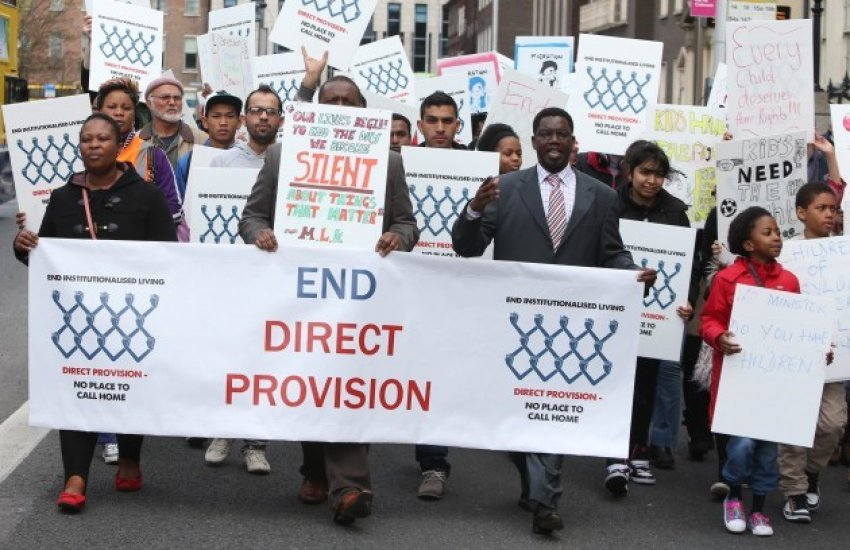 Protests across Ireland in solidarity with asylum seekers in Direct Provision (Credit: Niall Carson | The Journal)