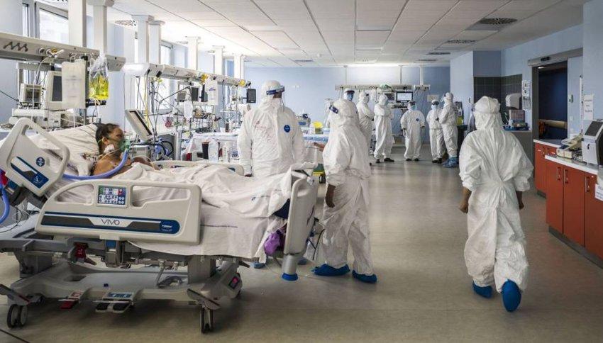 The intensive care unit in the Italian city of Catania on April 23. Credit: Fabrizio Villa | Getty