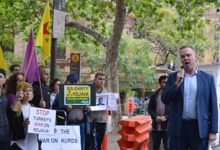 Greens MP Jamie Parker condemns Turkey's invasion of Syria