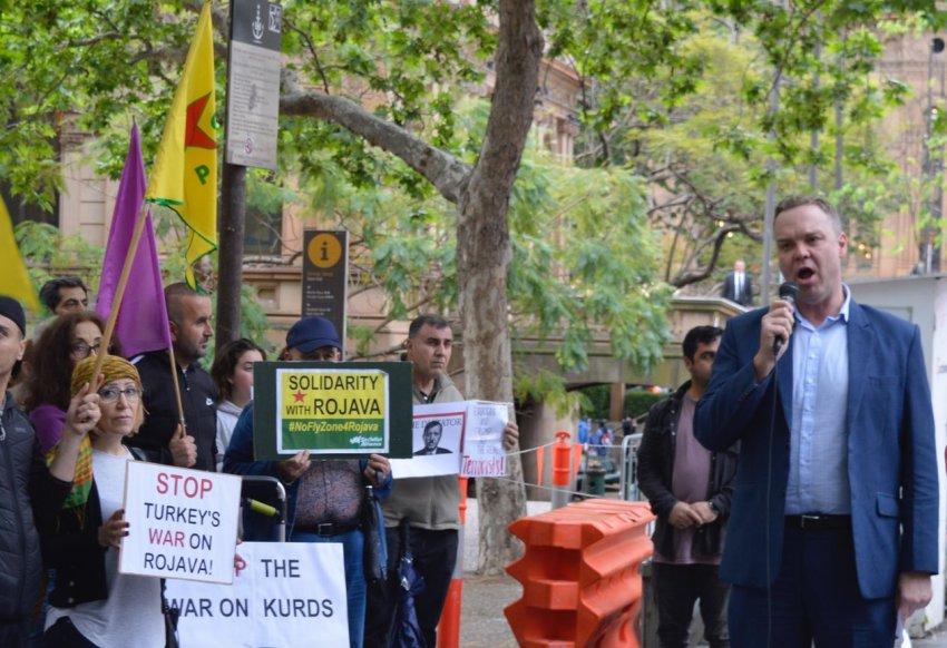 Greens MP Jamie Parker condemns Turkey's invasion of Syria