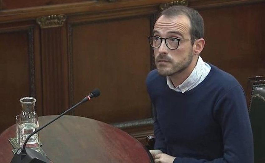 Jaume Mestre, in charge of the Catalan government's publicity department, gives evidence