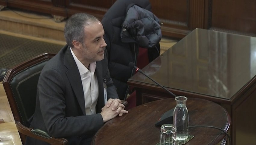 Joan Vidal, former Secretary to the Catalan government, gives evidence