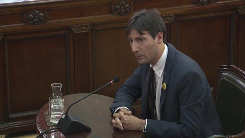 Jordi Solé, Member of the European Parliament for the Republican Left of Catalonia, testifies