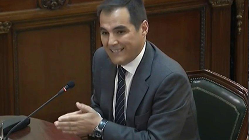 José Antonio Nieto, former Secretary of State for Security under former interior minister Juan Ignacio Zoido, giving evidence