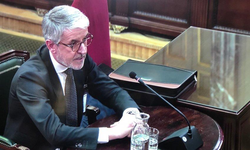 Juan Antonio Puigserver, General Secretary (Technical) of the Spanish Ministry for the Interior, testifying
