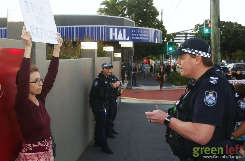 Kamala Emanuel harassed by police for holding a sign