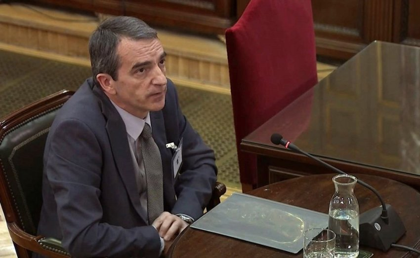 Mossos d'Esquadra inspector Joan Carles Molinero giving evidence
