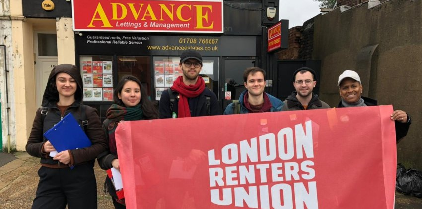 London Renters Union picket (Credit: Morning Star)