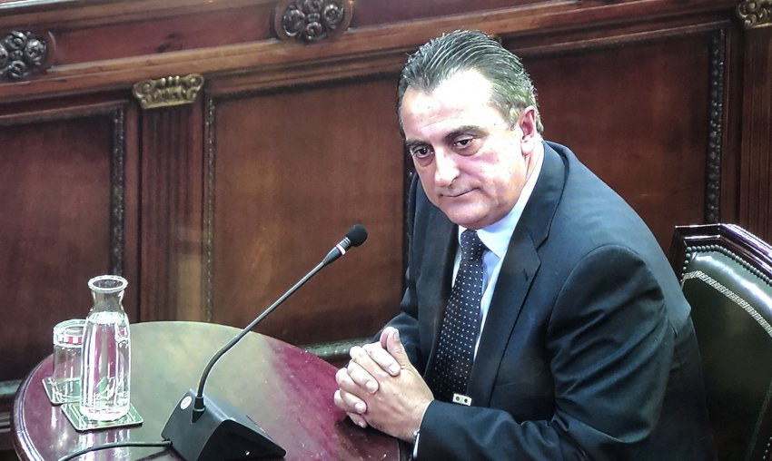 Manel Castellví, Mossos commissioner in charge of the force's general intelligence unit on October 1, giving evidence