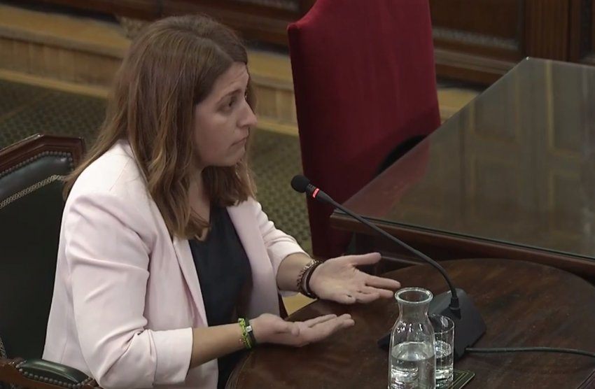 Marta Pascal, former general coordinator of the Catalan European Democratic Party (PDECat), testifies