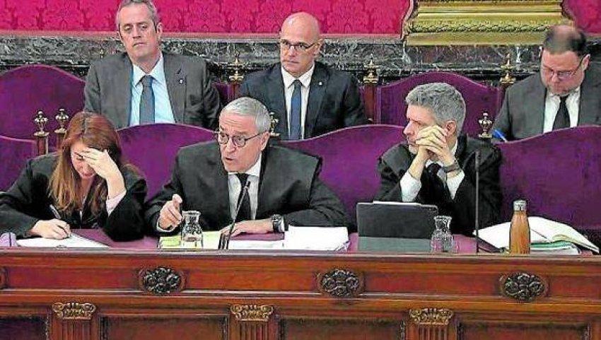 Xavier Melero, defence counsel for Joaquim Forn, cross-examining Manel Castellví