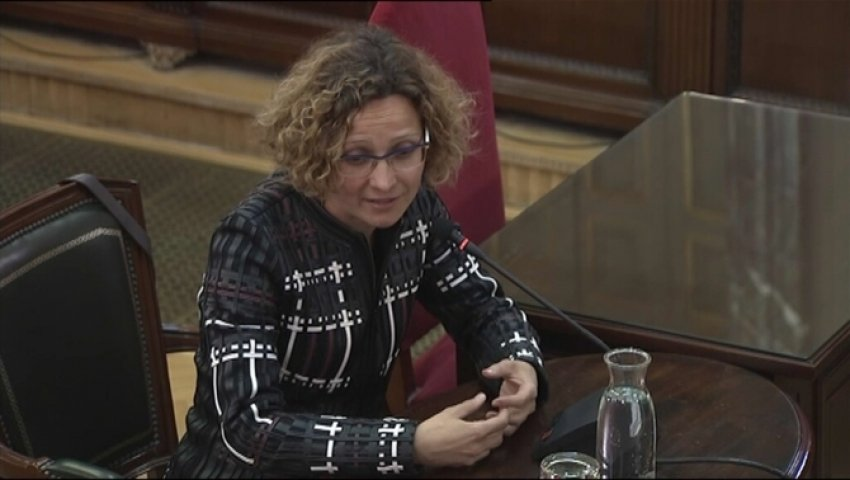 Former Catalan eductaion minister Meritxell Ruíz gives evidence
