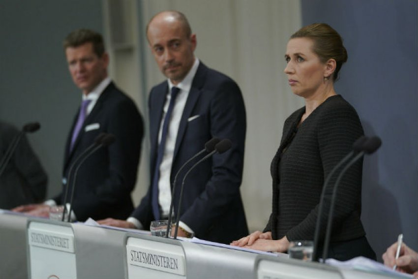 Danish PM Mette Frederiksen on March 11, when she announced lockdown measures. (Credit: Martin Sylvest/Ritzau Scanpix)