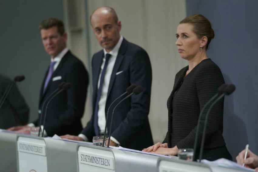 Danish PM Mette Frederiksen on March 11, when she announced lockdown measures. (Credit: Martin Sylvest/Ritzau Scanpix)