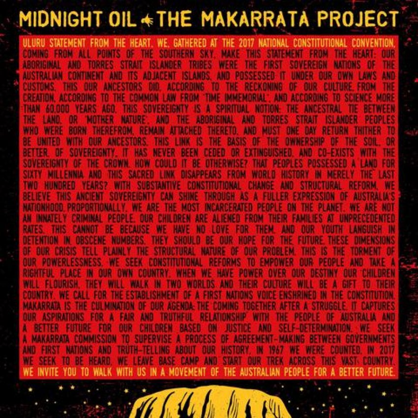 MIDNIGHT OIL - THE MAKARRATA PROJECT album artwork