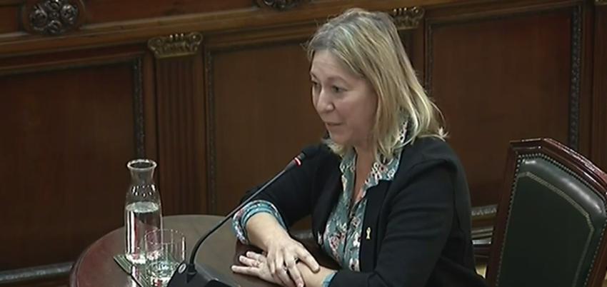 Neus Munté, former Catalan minister of state, giving evidence