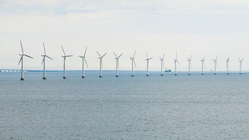 Middelgrunden offshore wind farm in Denmark