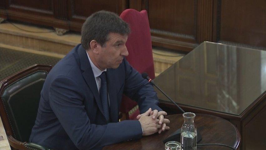 Mossos d'Esquadra officer Francesc Xavier Pastor gives evidence