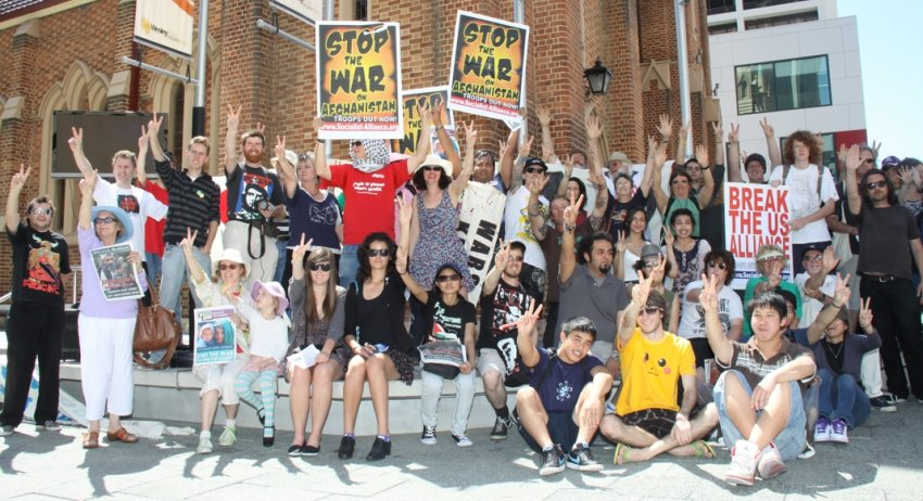 Perth protest against the Afghanistan war in 2010