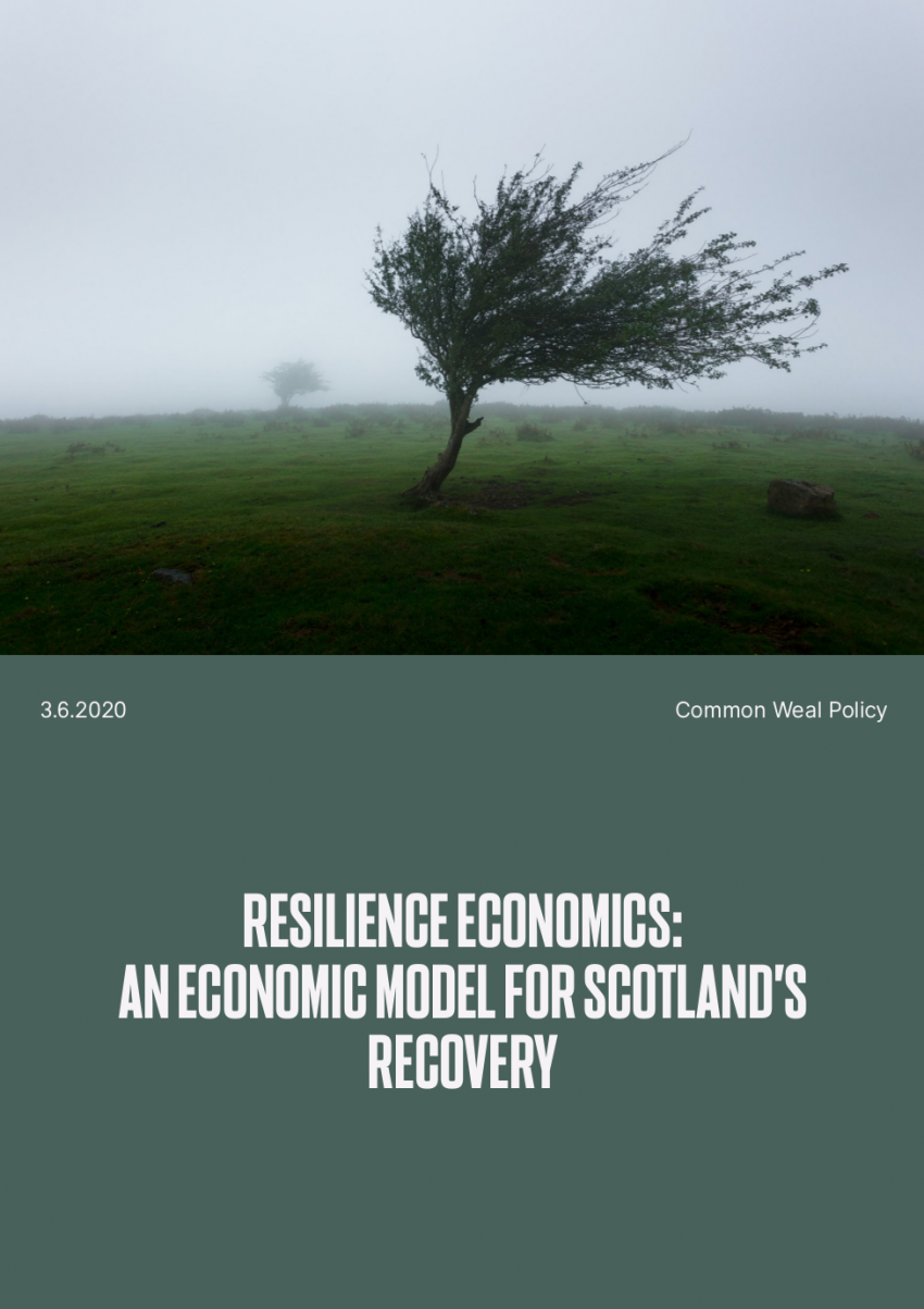 Resilience Economics' program for Scotland (link at end of article)