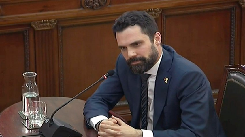 Roger Torrent, speaker of the Catalan parliament, testifies