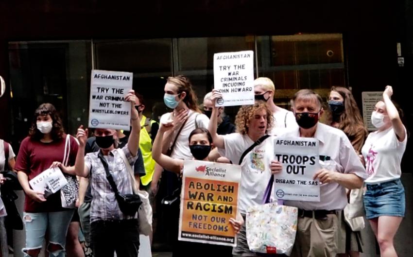 War crimes protest