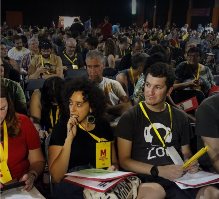 Delegates to the July 14 assembly of the People's Unity List (CUP)