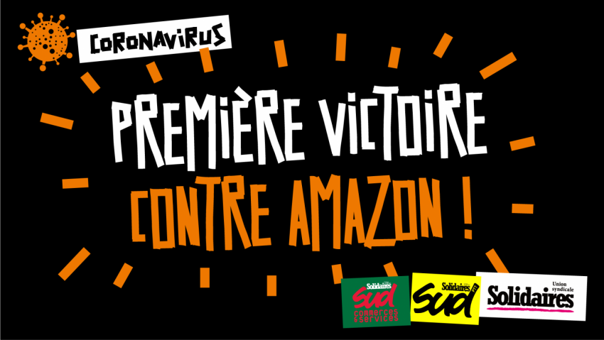 'Coronavirus: First Win Against Amazon!' (Credit: Solidaires)