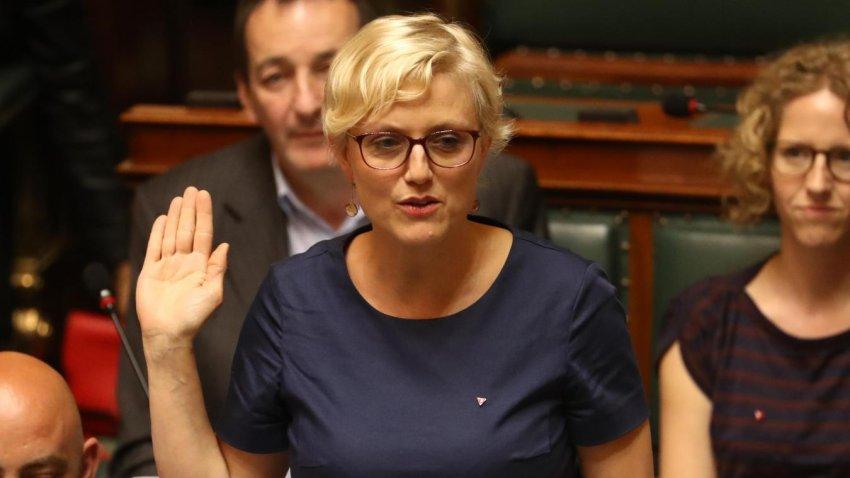 Workers Party of Belgium MP and doctor, Sophie Merckx (Credit: La Nouvelle Gazette)