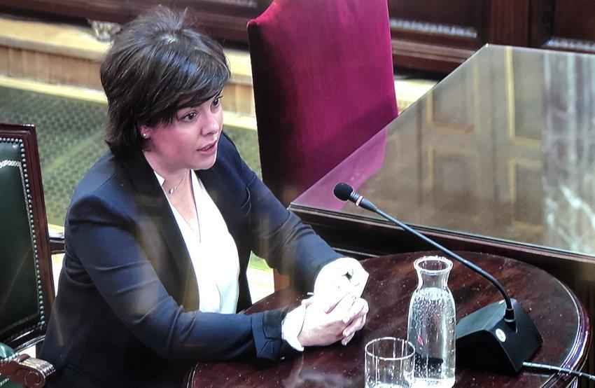 Former Spanish deputy prime minister Soraya Sáenz de Santamaria, testifying